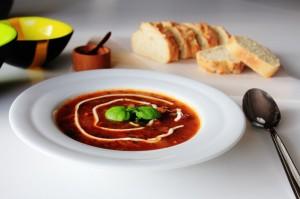 Tomatsuppe Med Oksekød - Hjemmelavet Suppe Med Oksekød