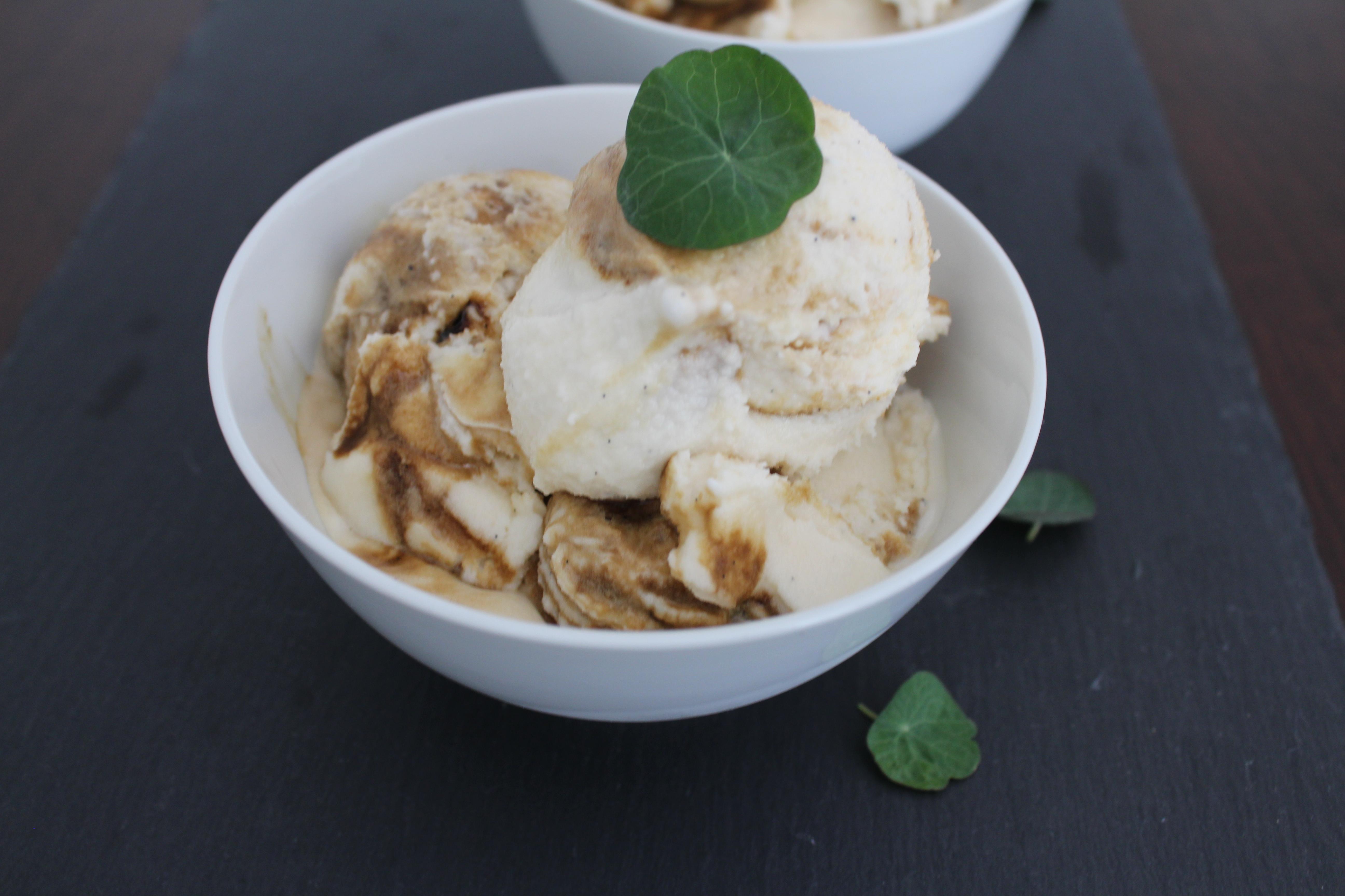 Vanilla Gelato With Liquorice Swirl