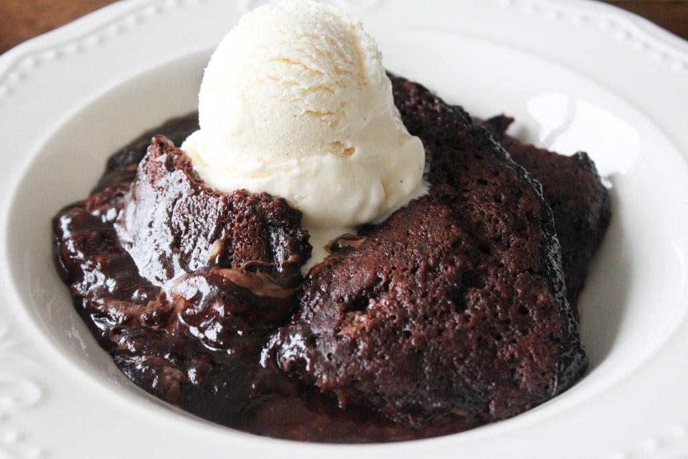 Hot Fudge Chokoladebudding Kage Med Nutella