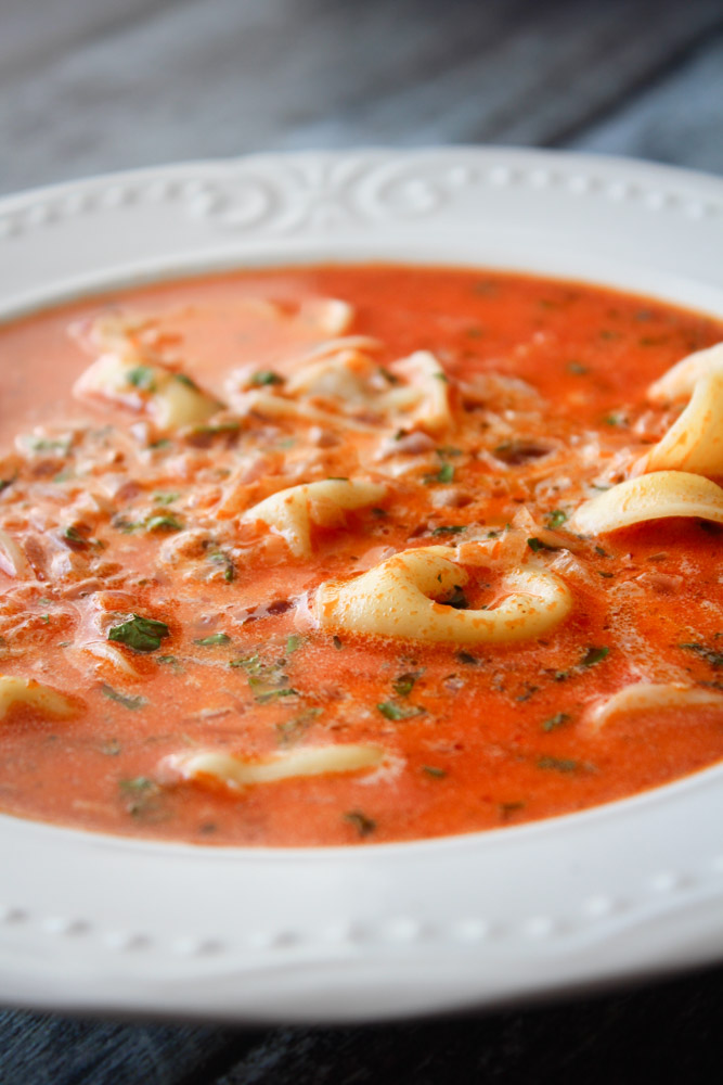 Tortellini Pesto Suppe