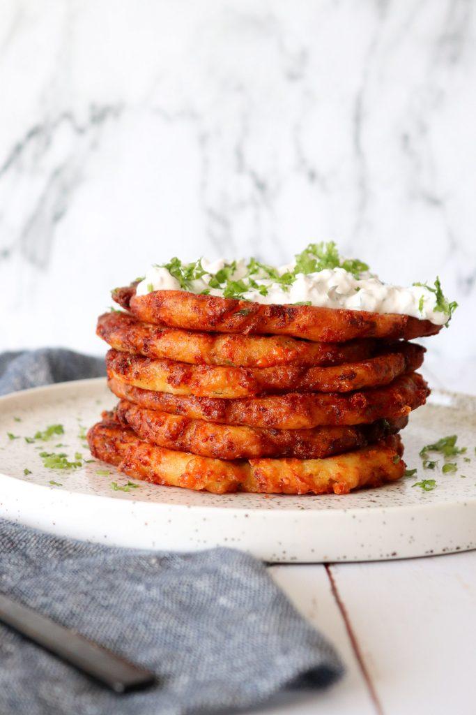 Sprøde Kartoffelpandekager Med Ost - Opskrift På Kartoffelpandekager