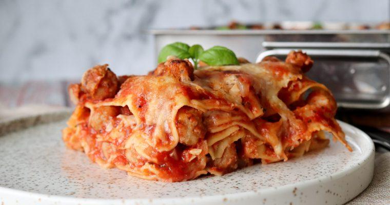 Lasagne Med Kødboller – Opskrift På Lasagne Med Kødboller