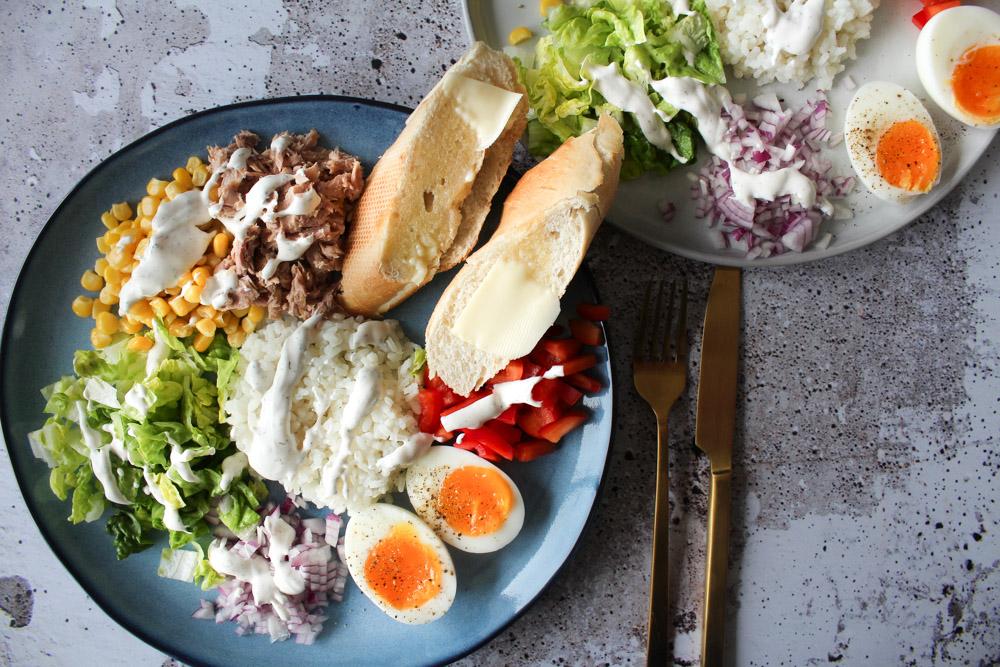 Salat Med Tun Og Æg