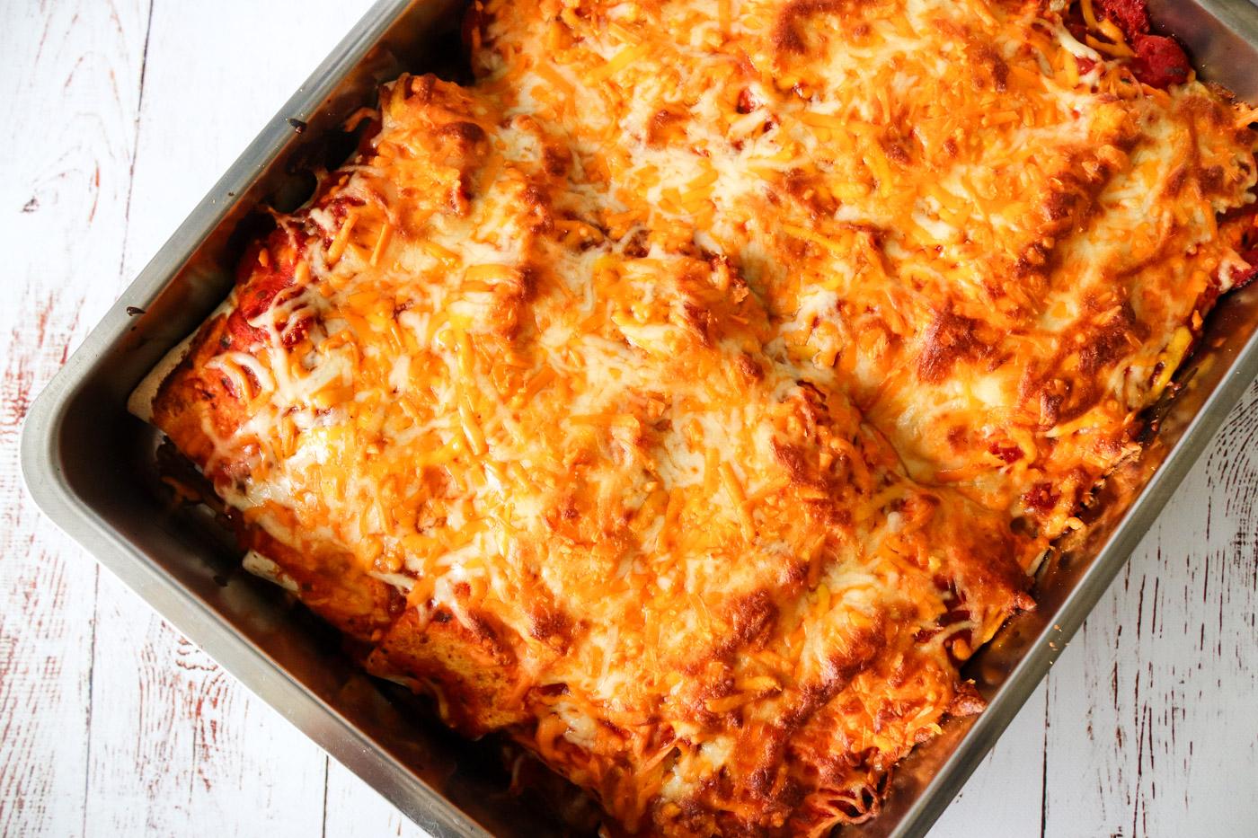 Enchiladas Med Pulled Pork Og Ost