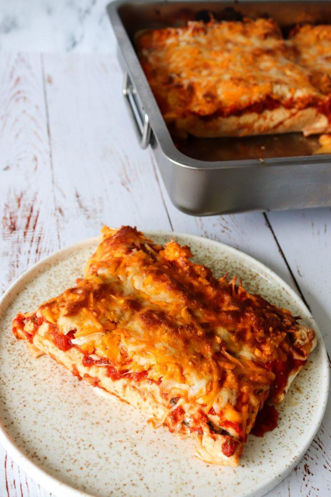 Enchiladas Med Pulled Pork, Og Ost