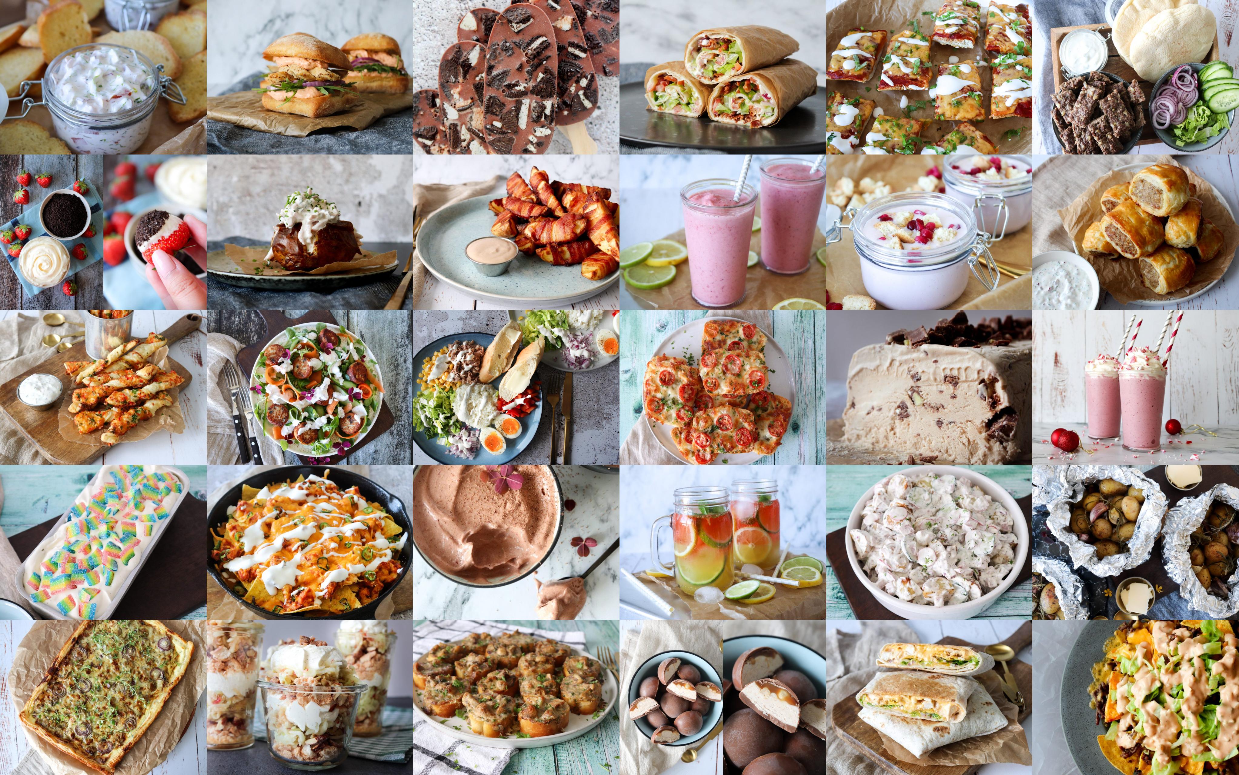 50 Lækre Idéer Til Frokost, Aftensmad, Snacks, Desserter Og Drikkelse Til Det Varme Vejr
