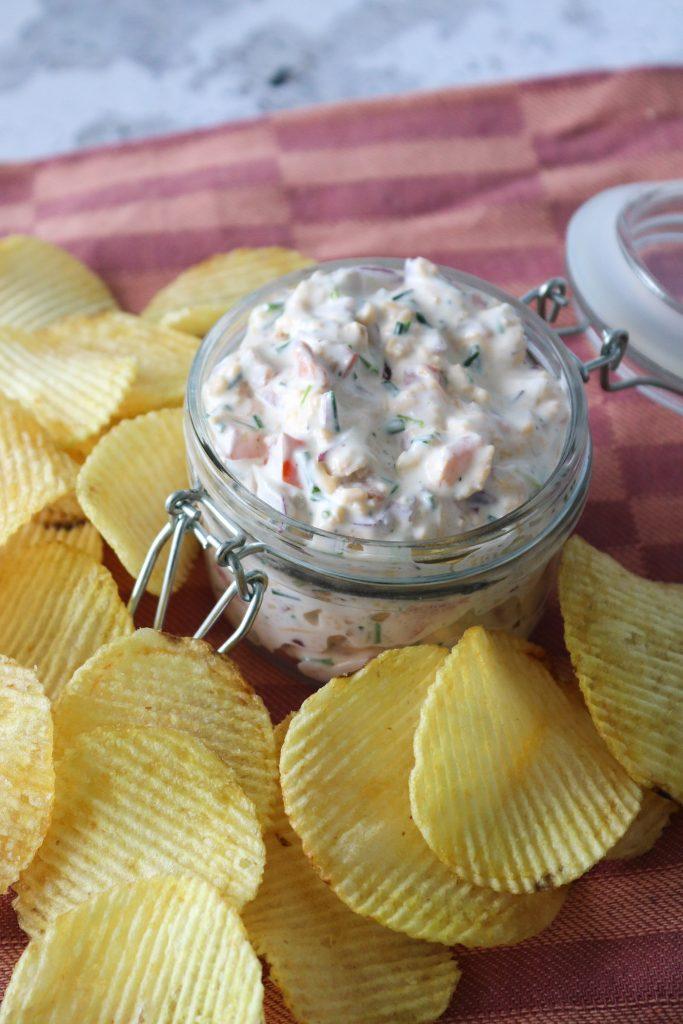 Loaded Dip Med Bacon, Ost Og Purløg - God Til Chips
