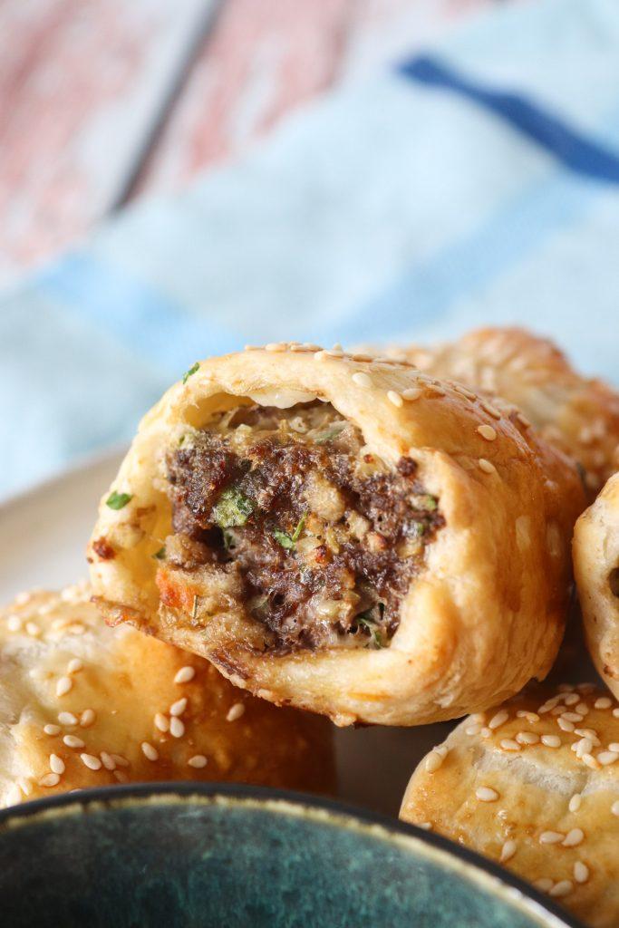 Italienske Kødbollehapsere - Butterdejshapsere Med Italiensk Kødbollefars