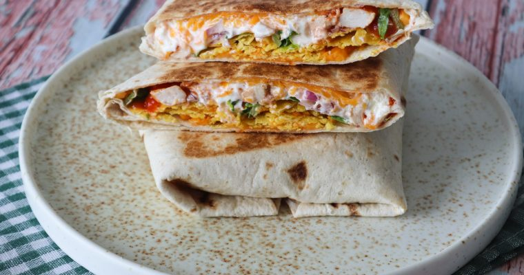 Sprøde Nachos Crunch Wraps – Tortillas Med Nachos Fyld