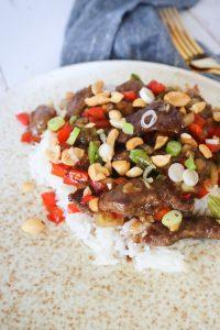 Mongolian Beef Med Grøntsager - Steak Strimler I Sauce Med Grøntsager