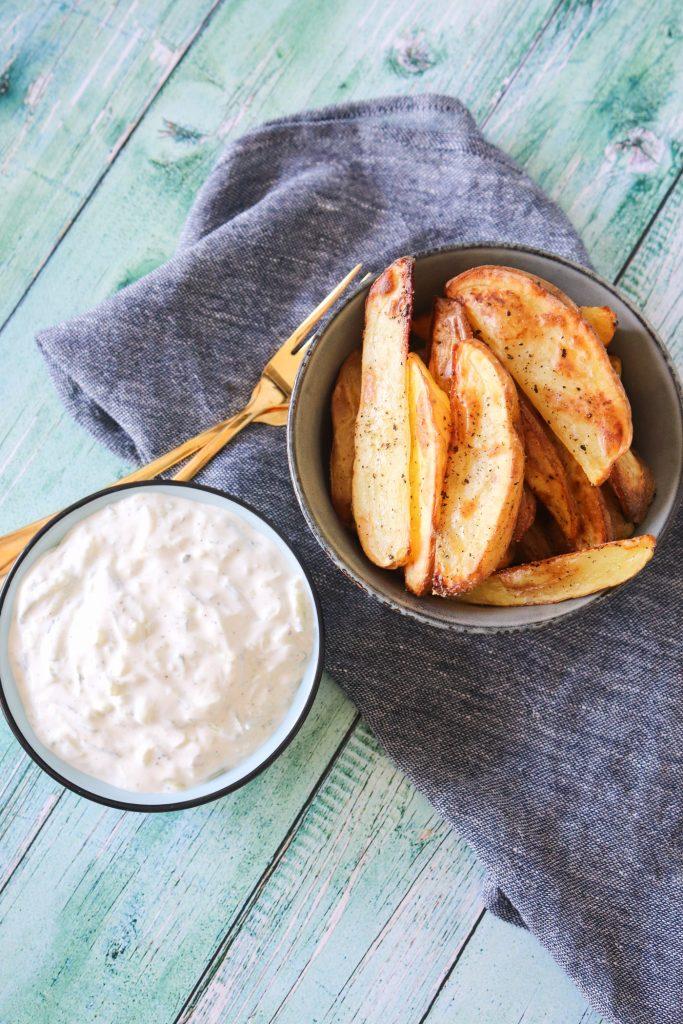 Tzatziki Dip Med Feta - Fantastisk Til Kartofler Og Brød