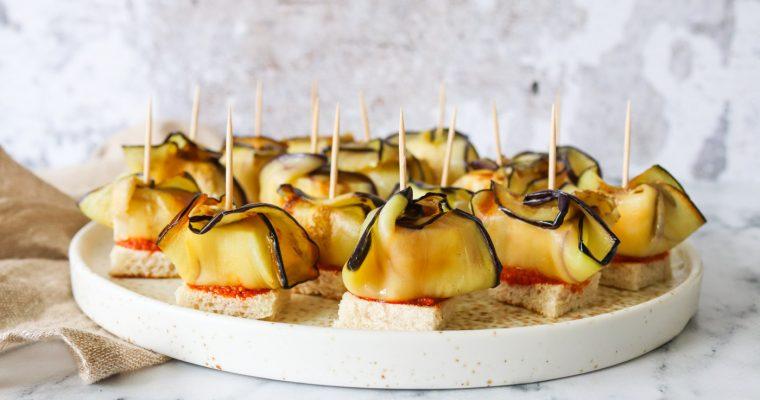 Fetahapsere Med Brød, Pesto Og Stegt Aubergine – En Lækker Snack