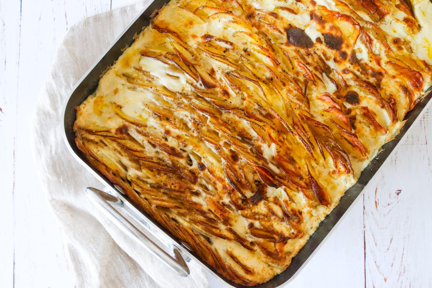 Flødekartofler Med Pikantost