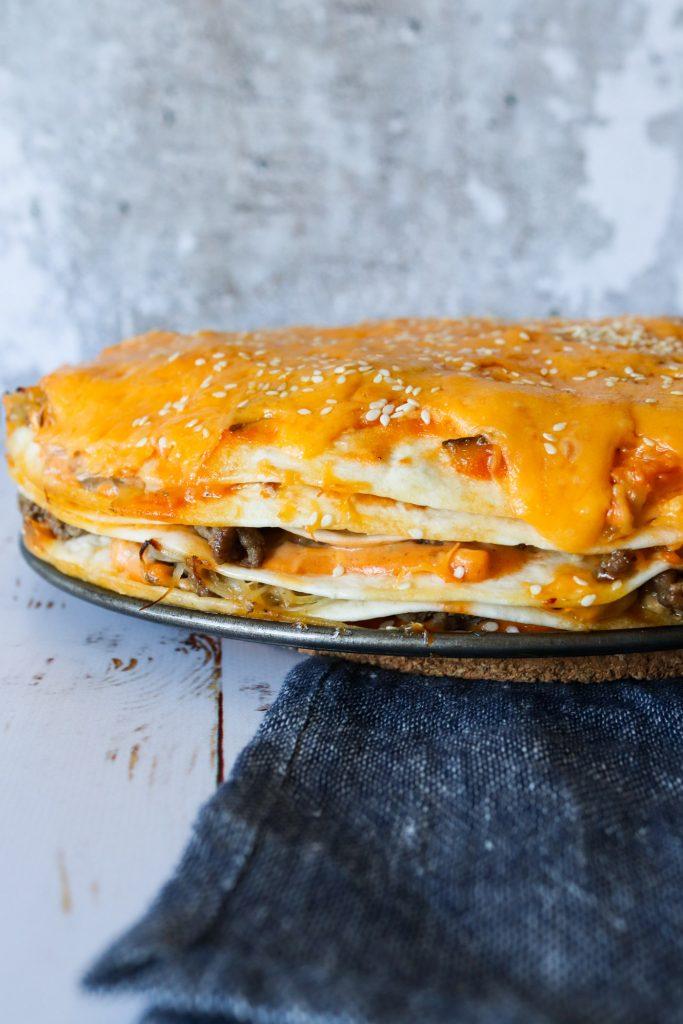 Big Mac Tortillalasagne - Nem Opskrift På Burger Tortillalasagne