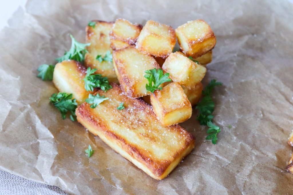De Bedste Pandestegte Kartofler - Sprøde Pandestegte Kartofler