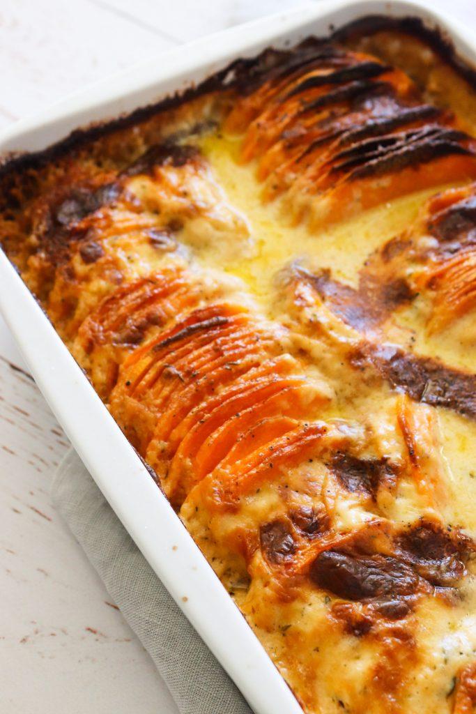 Flødekartofler Med Søde Kartofler - Sweet Potato Bake