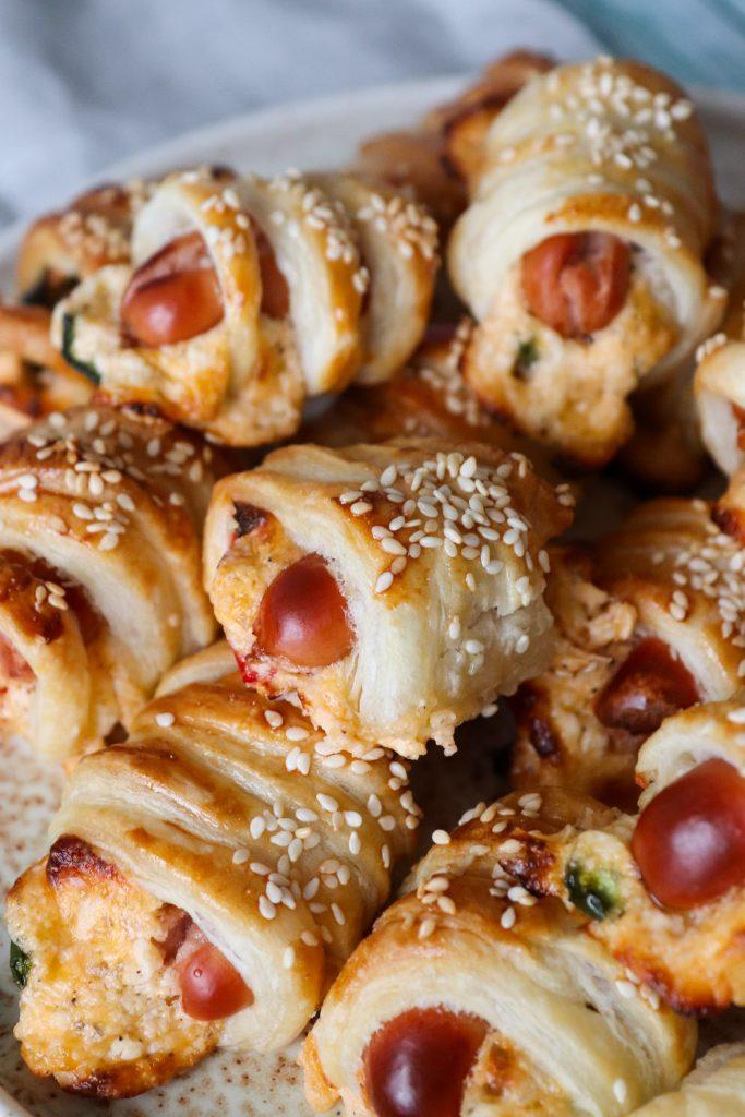Jalapeño Poppers Mini Pølsehorn Med Butterdej - Sprøde Snacks