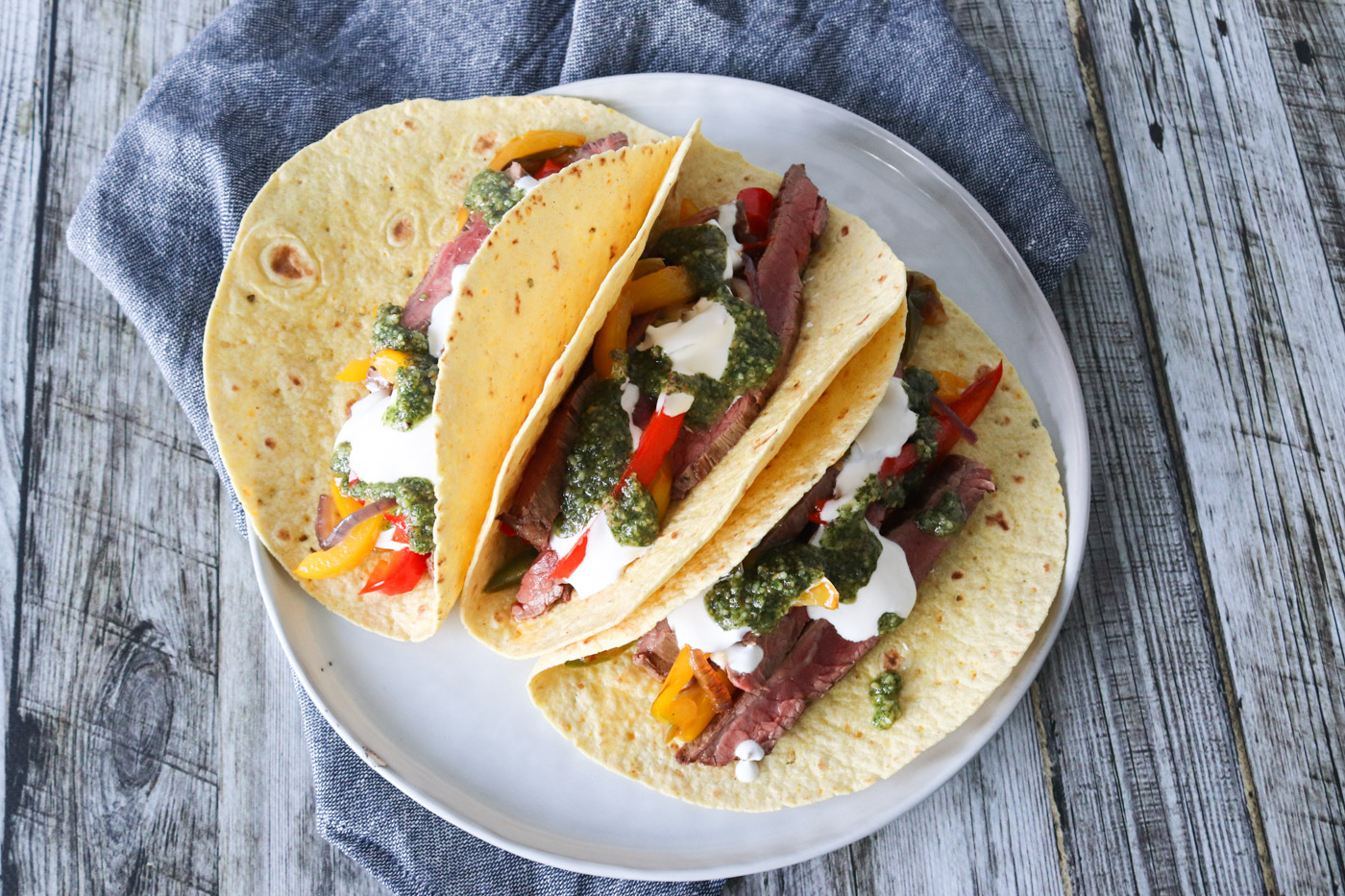 Bløde Tacos Med Flanksteak – Tacos Med Oksekød Og Pesto