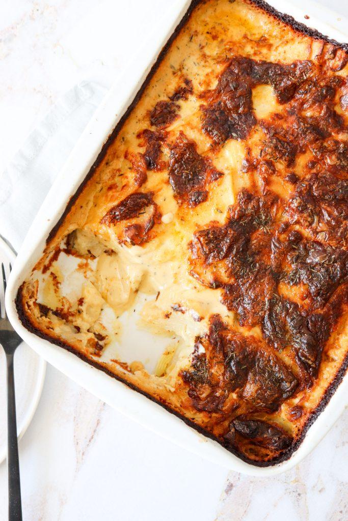 Flødekartofler Med Ostesauce - De Bedste Flødekartofler