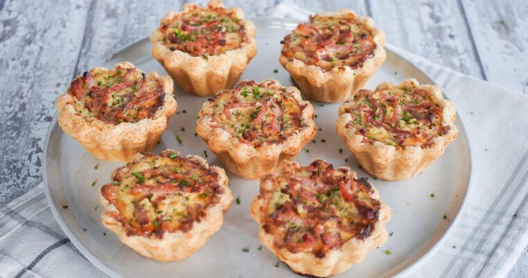 Minitærter Med Pikantost Og Skinke