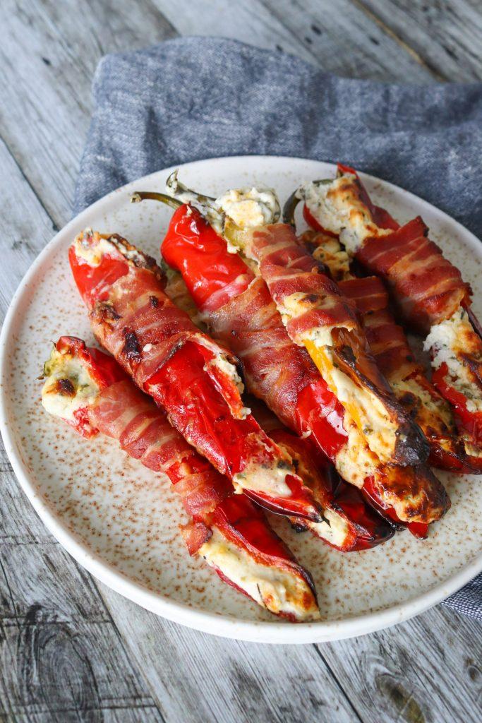 Fyldte Snackpeber Med Flødeost Og Bacon - Perfekt Tilbehør