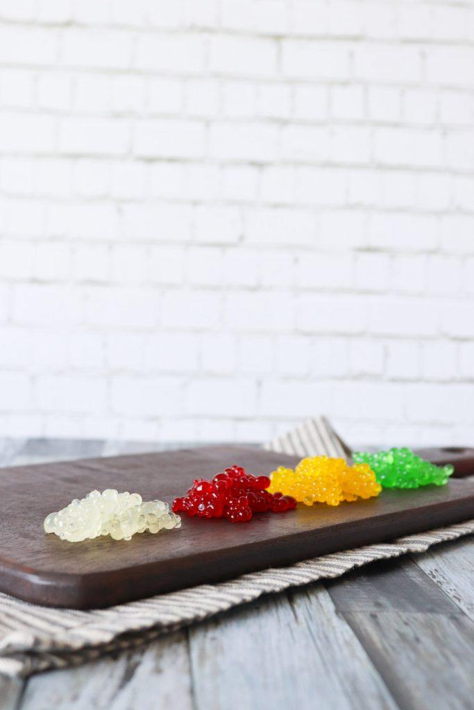 Citronperler, Ananasperler, Hindbærperler, Æbleperler - Hjemmelavet Kaviar