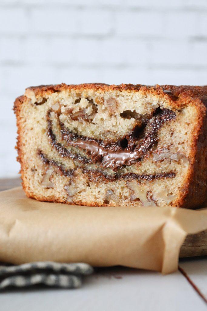 Banankage Med Nutella Og Valnødder