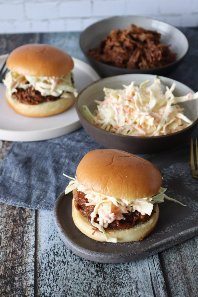Pulled Pork Burger Med Bearnaise Coleslaw