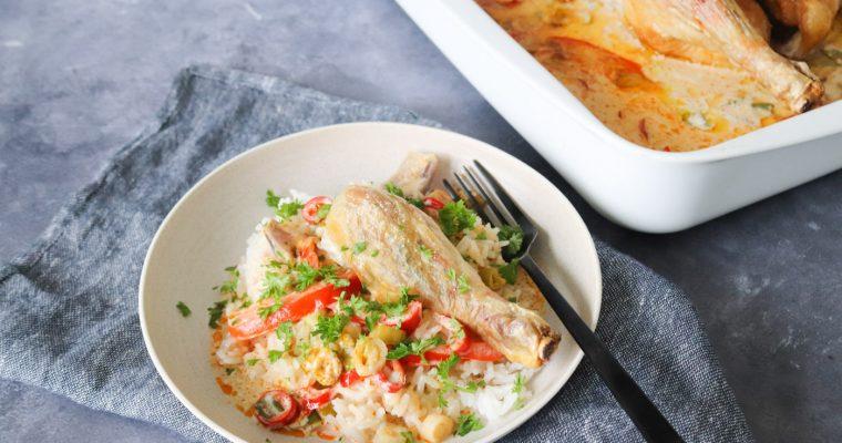 Asiatisk Inspireret Kylling I Fad Med Kokosmælk