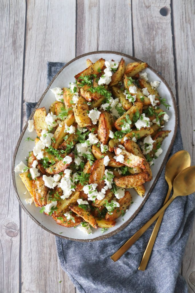 Ovnbagte Kartofler Med Krydderier Og Feta