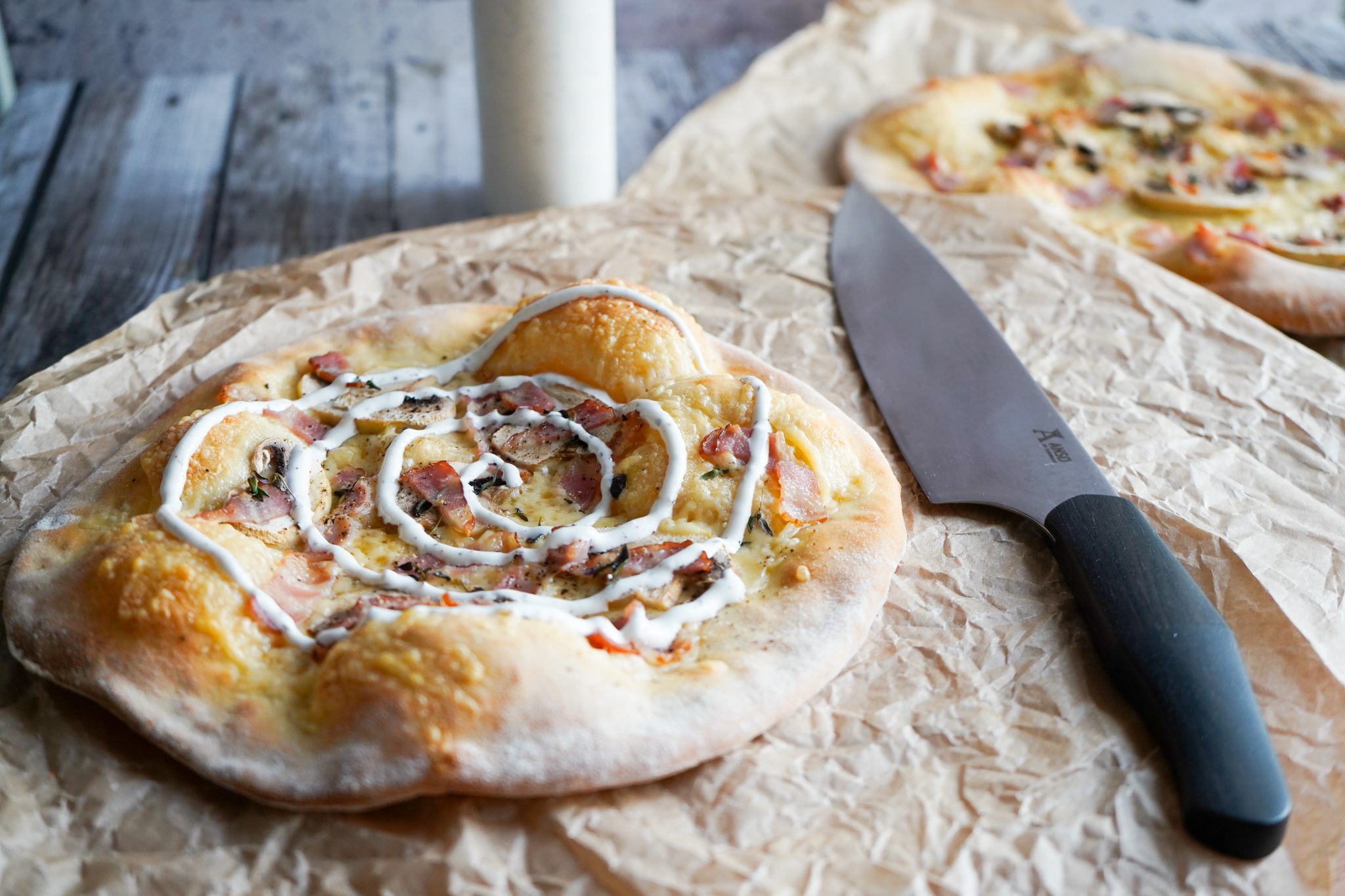 Pizza Med Vesterhavsost, Champignon Og Bacon