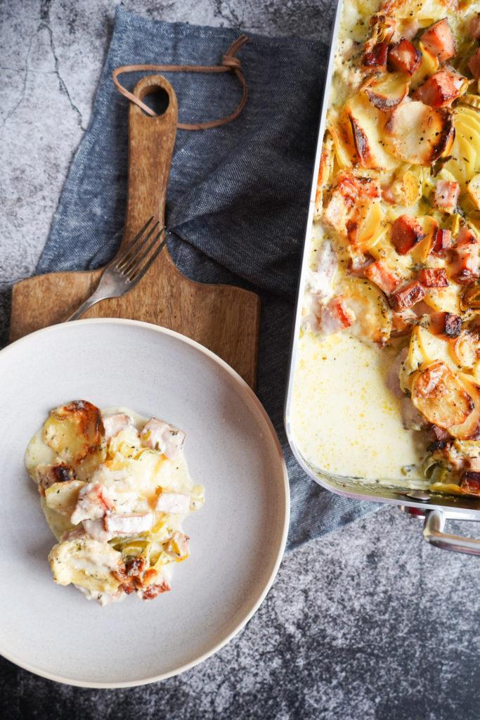 Kartoffelfad Med Hamburgerryg