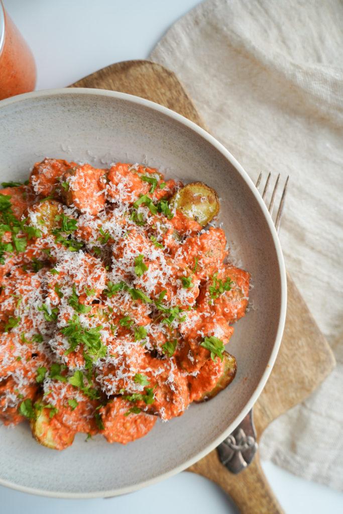 Kartoffelsalat Med Romescosauce