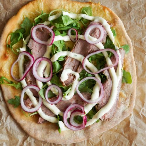 Bøf Bearnaise Pizza