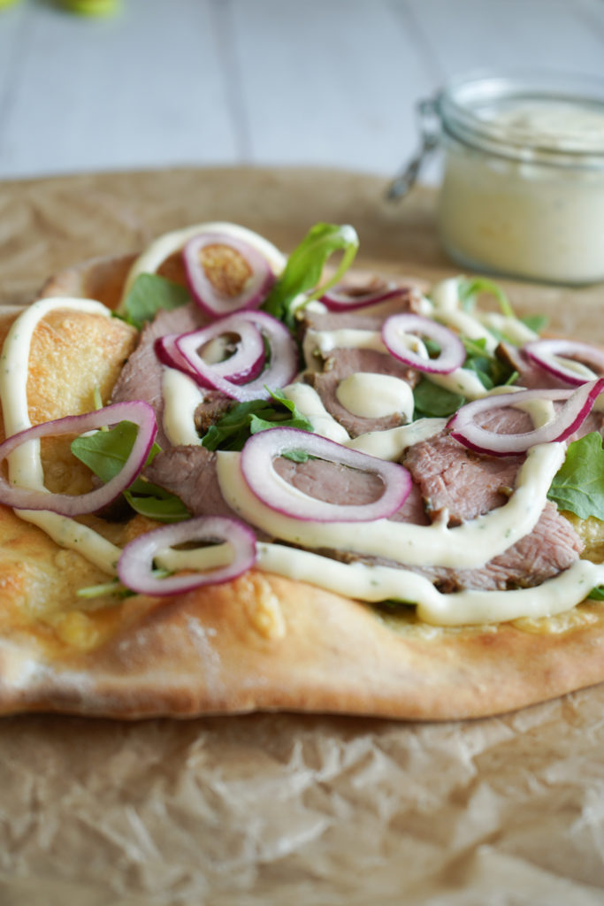 Bøf Bearnaise Pizza