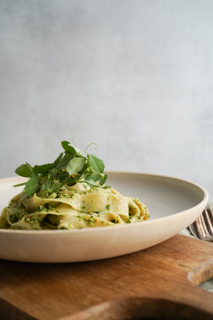 Fettuccine Med Pesto