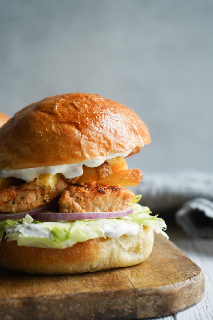 Gyros Inspireret Burger