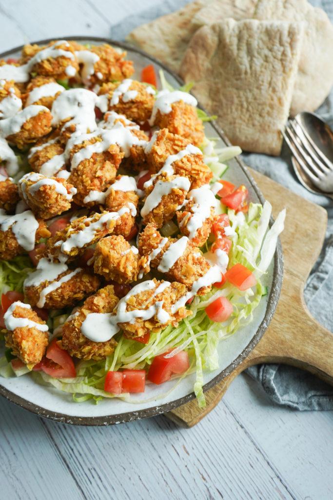 Salat Med Popcorn Kylling