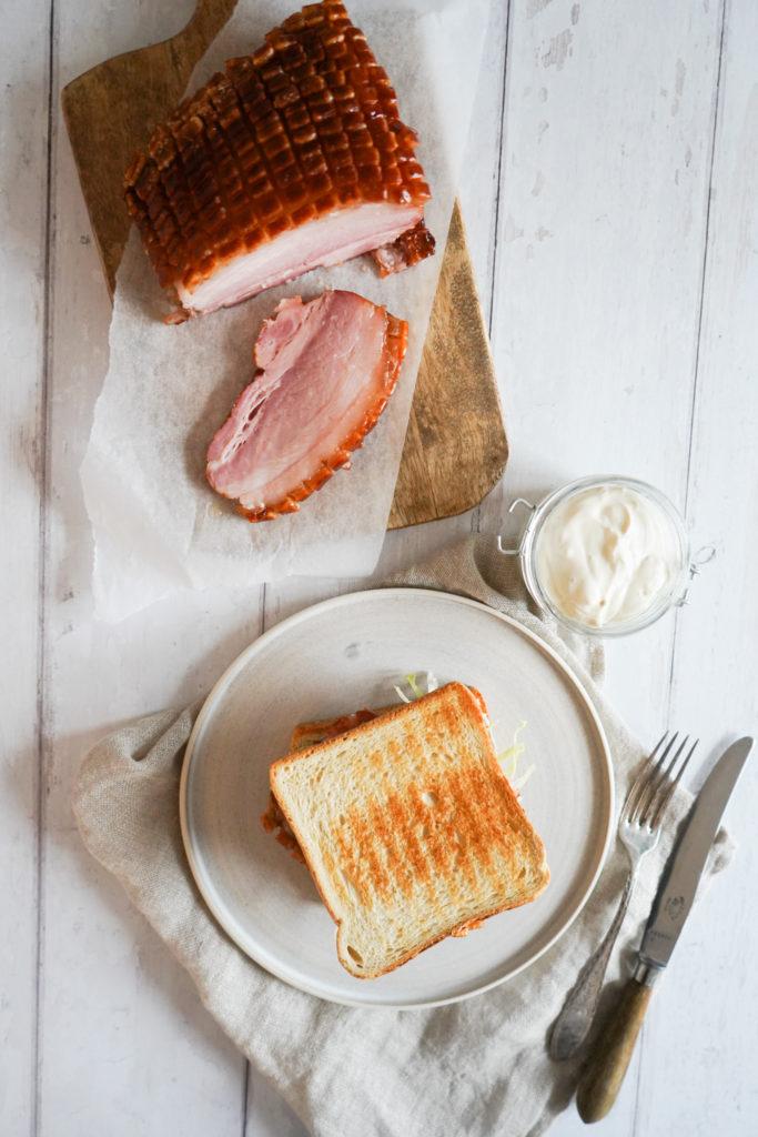 Baconsandwich Med Baconsteg