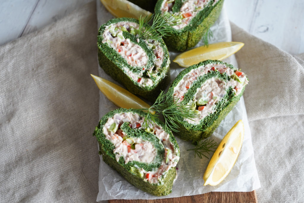 Spinatroulade Med Tun