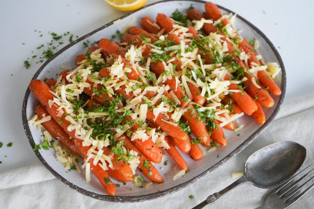 Bagte Gulerødder Med Vesterhavsost