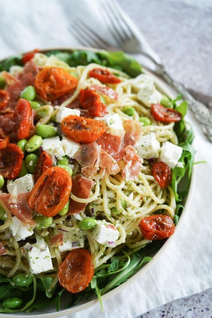 Spaghettisalat Med Pesto