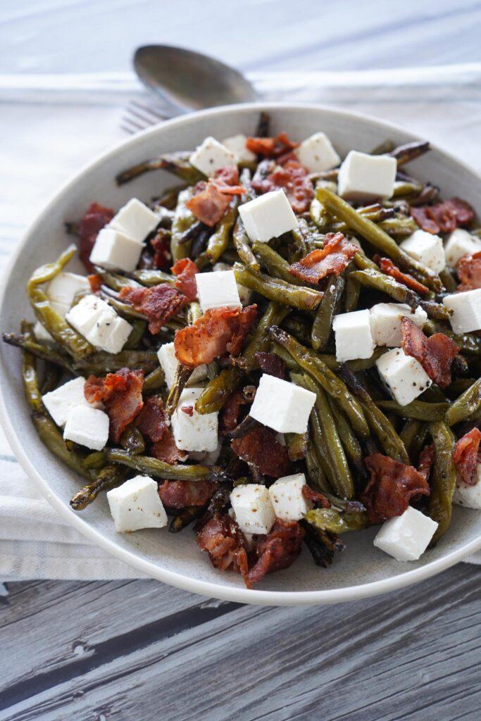 Bønnesalat Med Bacon og Feta