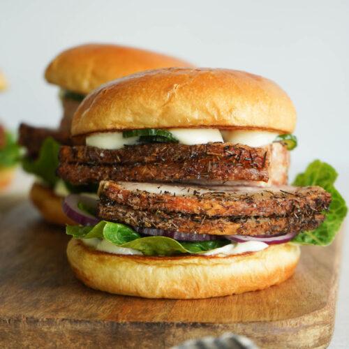 Flæskestegsburger Med Bearnaise